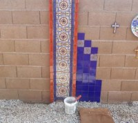 DIY Hand Painted Talavera Tile Accent Wall | Hometalk