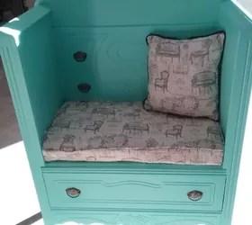 mom's old dresser turned into bench. | hometalk