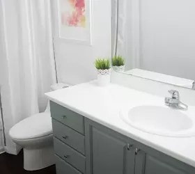 how to paint bathroom cabinets | hometalk