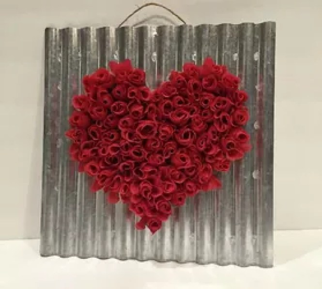 Cut Up Craft Paper Hearts And Hang Them