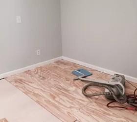 DIY Plywood Plank Floors