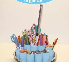 DIY Rotating Supply Organizer Hometalk