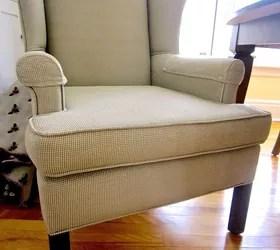 reupholster chair cost wing back slip covers diy reupholster! | hometalk