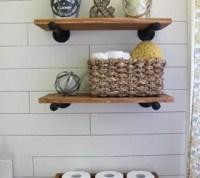 A FarmHouse Bath Makeover + Cheapest Shiplap How-To | Hometalk