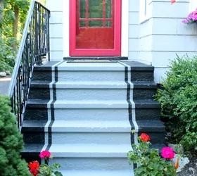 11 Quick And Easy Curb Appeal Ideas That Make A Huge   Painting Outside Concrete Steps