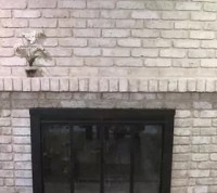How to Paint an Old Brick Fireplace | Hometalk