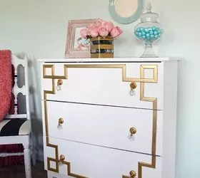 Ikea Tarva Dresser Hack Gold Greek Key Design Hometalk
