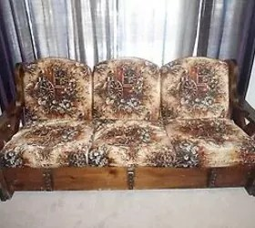 sears recliner chairs white chair how to repurpose a 1970 sofa into yard or patio set?   hometalk