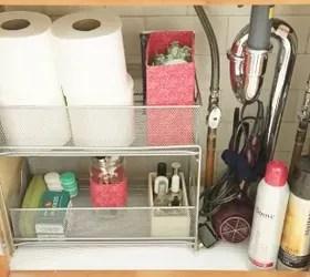under kitchen sink storage epoxy floor the 15 smartest hacks for your hometalk