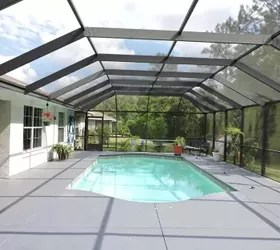 Would it look right to put an outdoor kitchen under screened pool  Hometalk