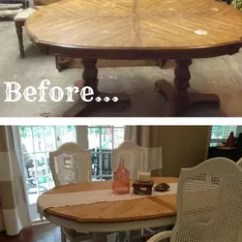 Cane Back Dining Room Chairs Cost To Reupholster A Chair Vintage Table And Transformation   Hometalk