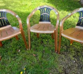 how to paint plastic chairs leather counter height 30 awesome backyard chair ideas try right now hometalk