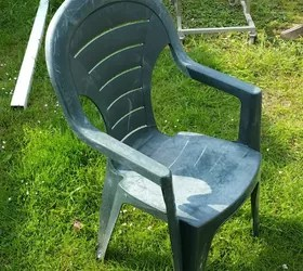 How to cover a old plastic chair in concrete  Hometalk