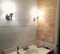 Faux Shiplap Bathroom Makeover | Hometalk