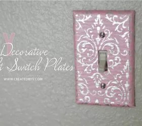 DIY Decorative Switch Plates & Outlet Covers
