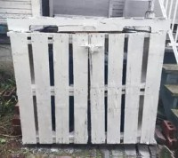 Outdoor Garbage Can Storage From Pallets | Hometalk