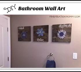 DIY Bathroom Wall Art  String Art to Add a Pop of Color
