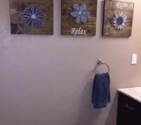 DIY Bathroom Wall Art - String Art to Add a Pop of Color ...