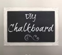 Make Your Own Chalkboard Out of a Thrift Store Picture