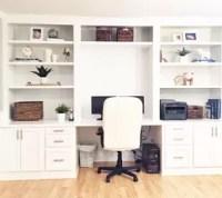 Built-In Desk Reveal | Hometalk