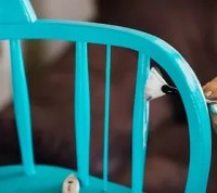 Painted Modern Chair With Gold Foil | Hometalk