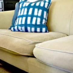 How To Reupholster A Chair Cushion Corner Bedroom Lounge Ottoman Sofa Cushions Reupholstering Couch Thriftyfun - Thesofa