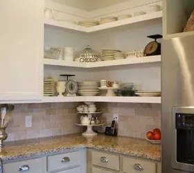 kitchen cabinet shelving counter height table sets 12 space saving hacks for your tight | hometalk