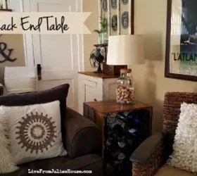 wine rack in living room pink chairs upcycle racks into an end table hometalk thrift store how to ideas painted