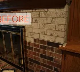 decorate living room pictures grey ideas with brown sofa 10 gorgeous ways to transform a brick fireplace without ...