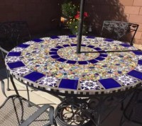 Mosaic Tile Patio Table