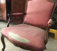 Reupholstering of a Classic Bergere Chair   Hometalk