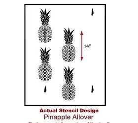Pineapple Wallpaper Hack Using The Pineapple Stencil Hometalk
