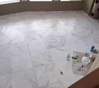 Faux Marble Flooring