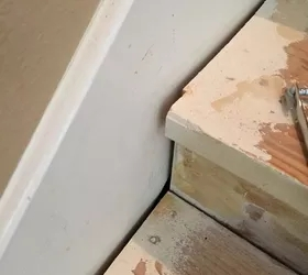 Diy Nasty Carpeted Stairs Removal Hometalk   Refinishing Builder Grade Stairs   Diy   Basement Stairs   Staircase Makeover   Flooring   Carpeted Stairs