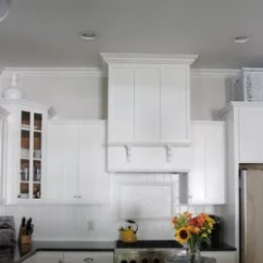 Kitchen Vent Hood Cabinet Decals A Homeowner Hangs Board From Her Ceiling Few Steps How To Make Fan