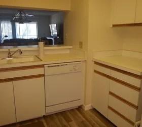 Redo of 70s Kitchen With Oak Strip Cabinets  Under 200