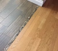 Transitioning hardwood floor to tile floor