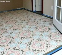 How to Stencil a Concrete Floor in 10 Easy Steps | Hometalk