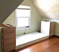 How to Make a Built in Bed Using Stock Kitchen Cabinets ...
