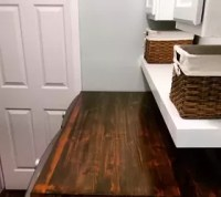 Transform Your Laundry Room Floor With Faux Wood Vinyl ...