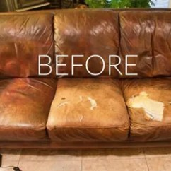 How To Fix Tear Leather Sofa Much Does It Cost Reupholster A Sleeper Hide Your Couch's Wear And With These 9 Ingenious ...
