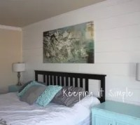 Shiplap Wall in the Master Bedroom for Less Than $100 ...