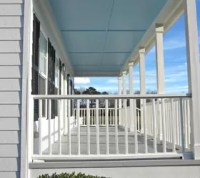 Our New Haint Blue Porch Ceiling