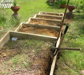 Timber Garden Stairs Steps Hometalk | Repairing Outdoor Wooden Steps | Staircase | Patio | Concrete Slab | Front Porch | Stringer