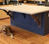 How to Make a Kitchen Island With a Concrete CounterTop