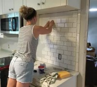 Subway Tile Backsplash Step