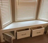 DIY Built-in Window Seat With Drawer and Cabinet Storage ...