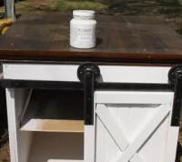 Sliding Barn Door Side Table.   Hometalk