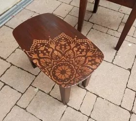 painting living room off white tan how to stencil nesting tables using the passion mandala ...