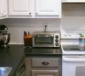 Tuxedo Kitchen  Spray Painted Cabinet Makeover  Hometalk